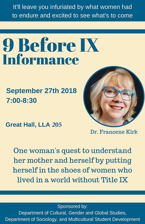 9 Before IX an Informance