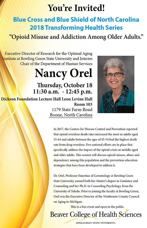 Nancy Orel: Opioid Misuse and Addiction Among Older Adults
