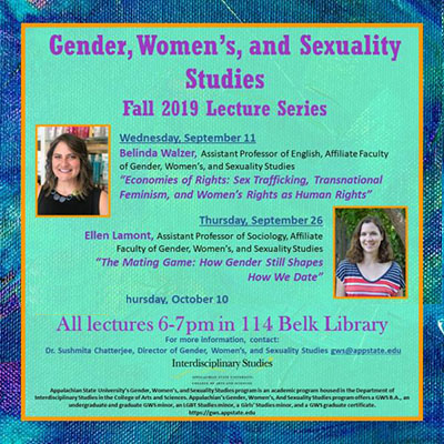 Gender, Women's and Sexuality Studies Fall Lecture Series