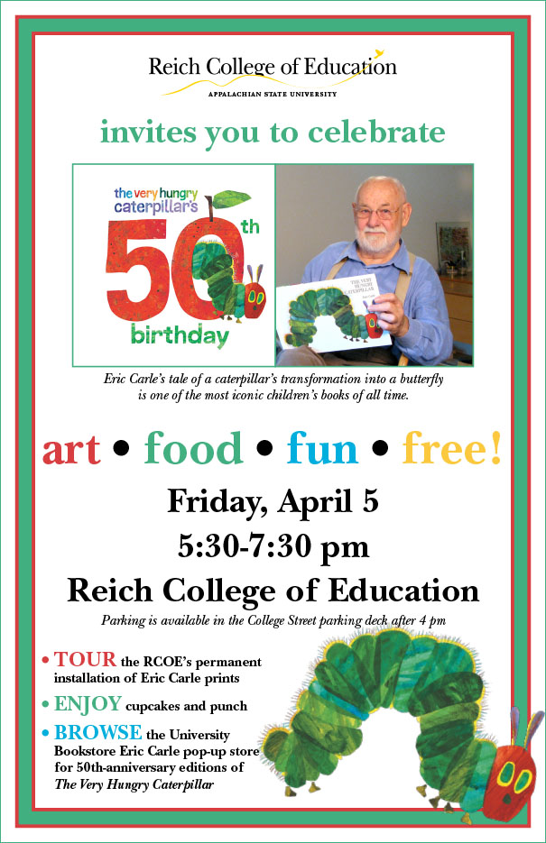 50th Anniversary of Eric Carle's The Very Hungry Caterpillar