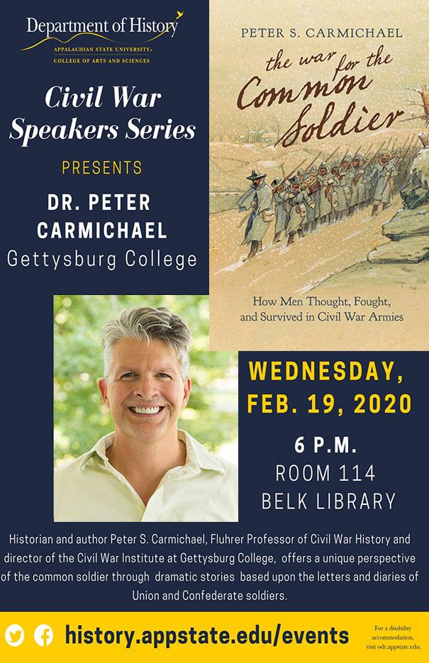 5th Annual Civil War Speaker Series with Dr. Peter Carmichael