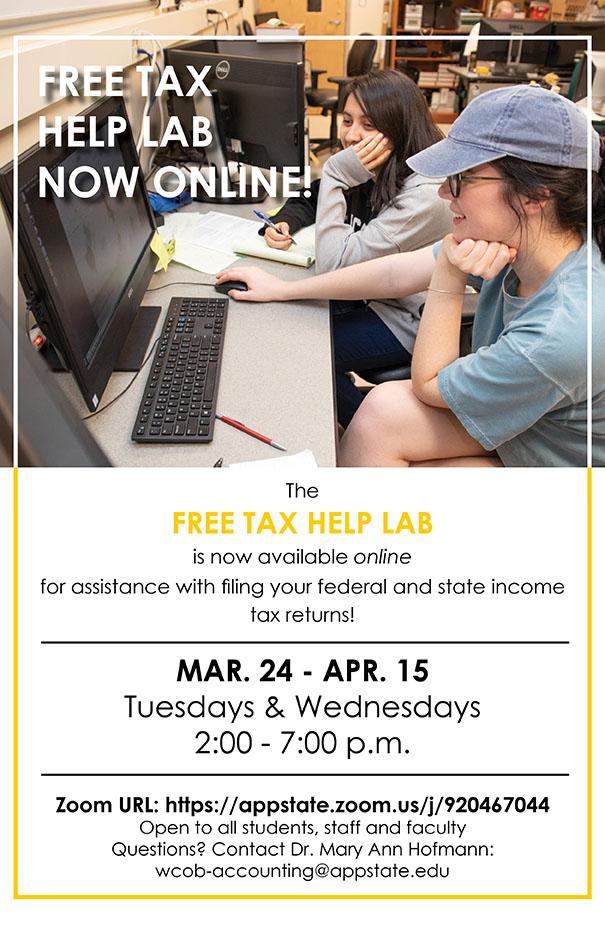Free Tax Help Lab ONLINE