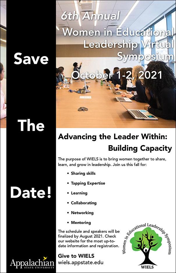 Virtual 6th Annual Women in Educational Leadership Symposium (WIELS)