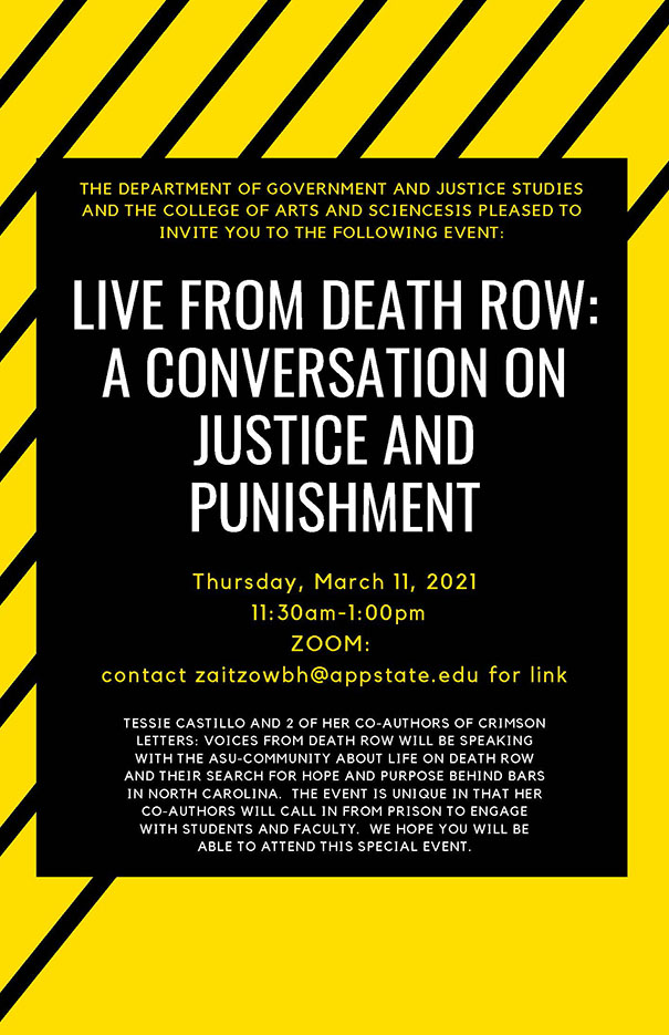 Live from Death Row: A Conversation on Justice and Punishment