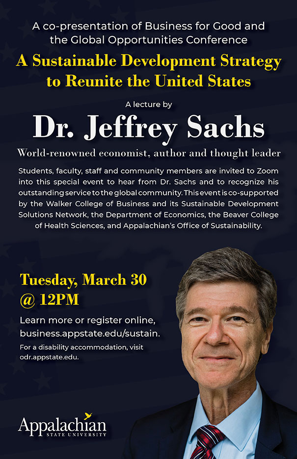 Dr. Jeffrey Sachs: A Sustainable Development Strategy to Reunite the United States