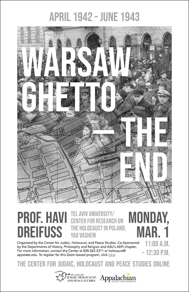 Yad Vashem Center Director Prof. Havi Dreifuss speaks on the Last Year of the Warsaw Ghetto