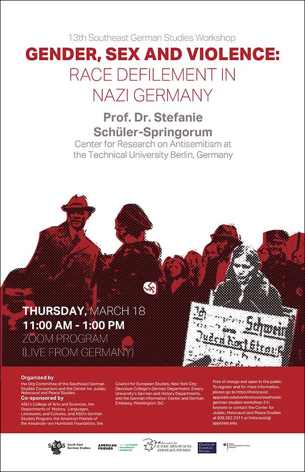 Berlin Center Director Prof. S. Schueler-Springorum speaks on Gender, Sex, and Violence in Nazi Germany