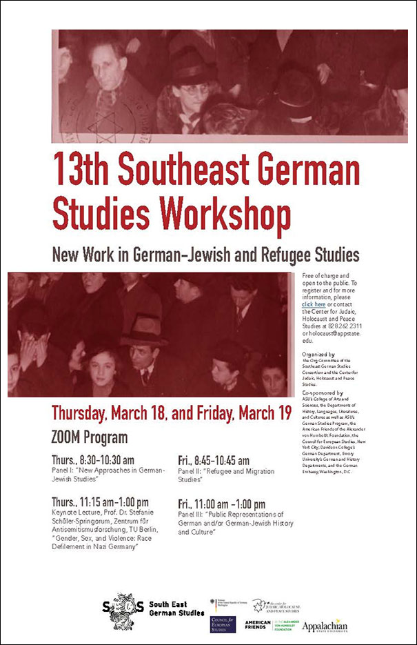 International Workshop on German-Jewish and Forced Migration Studies Hosted by Center for Judaic, Holocaust and Peace Studies