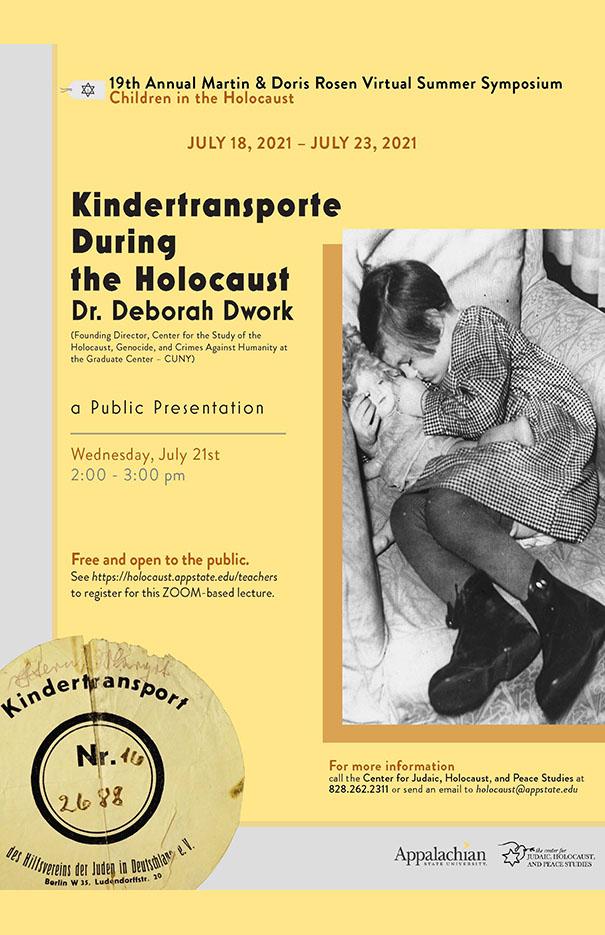 Summer Symposium features Deborah Dwork on Kindertransporte During the Holocaust