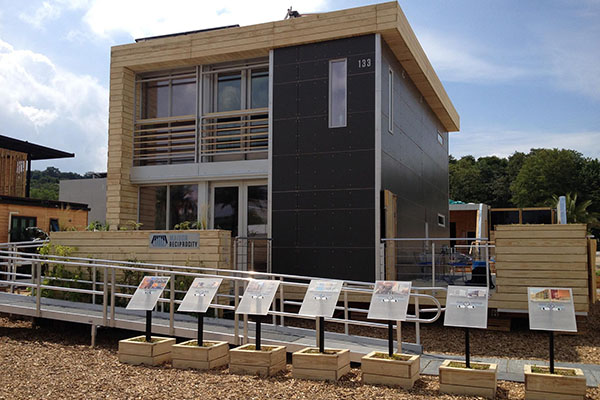 Solar Decathlon Europe 2014 entry reassembled in France