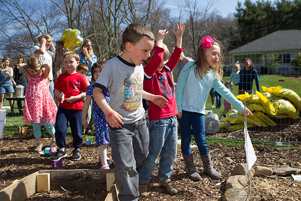 Learning garden teaches children where food comes from