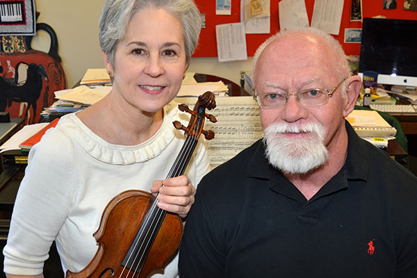 Faculty recital Jan. 30 features works for violin and piano