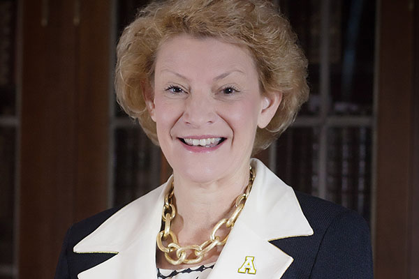 Everts will be installed as Appalachian's seventh chancellor on April 17