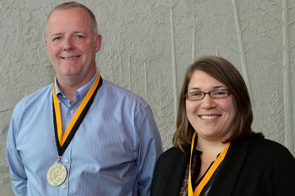 Gibbard and Hester recognized for excellence in student advising and mentoring