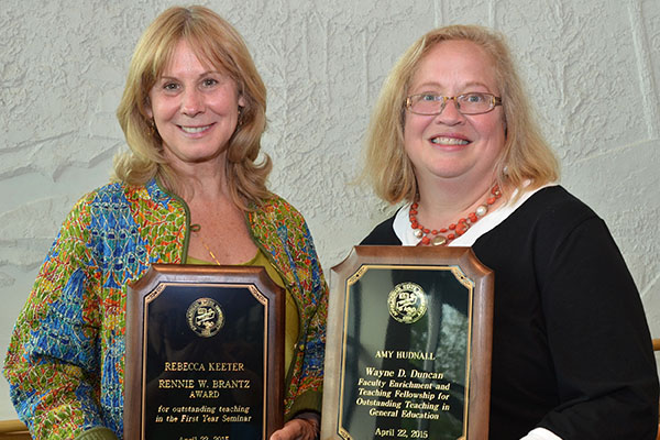 Hudnall and Keeter honored for excellence in teaching in Appalachian's general education program