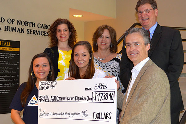 Delta Zeta chapter raises more than $4,700 for Communication Disorders Clinic at Appalachian