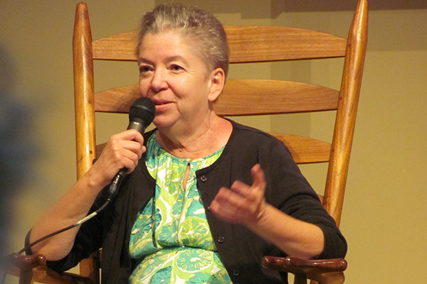 Author and environmental activist Denise Giardina speaks Oct. 20 at Appalachian