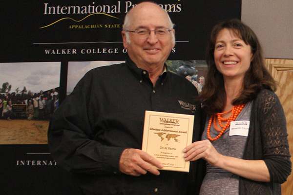 Harris honored for promoting international opportunities for students