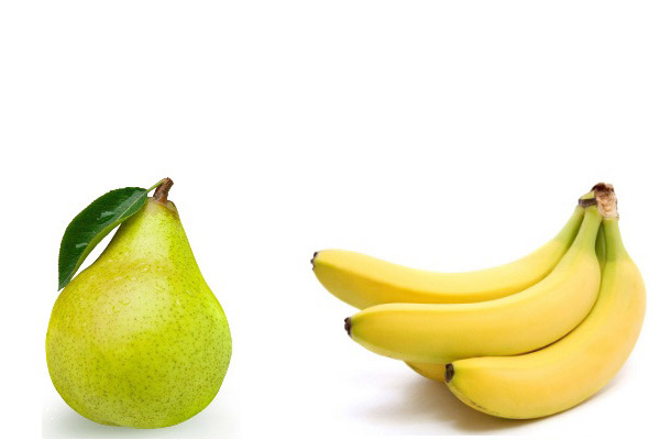 Bananas and pears improve athletic performance and recovery