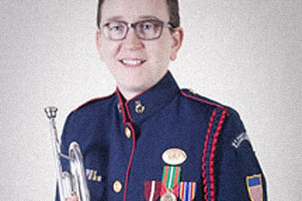 Flugelhornist Kelly Watkins performs Feb. 16 with the Appalachian Symphony Band