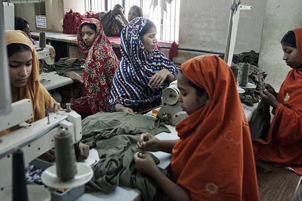 Presentation and discussion of the global garment industry and its labor held March 17
