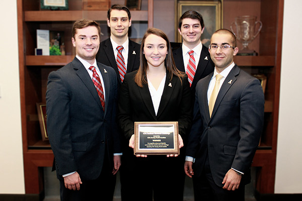 Team from Appalachian's Walker College of Business wins regional research challenge