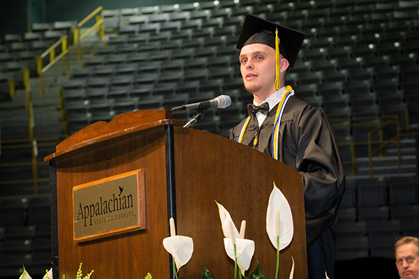 Commencement remarks focus on memories and what's next