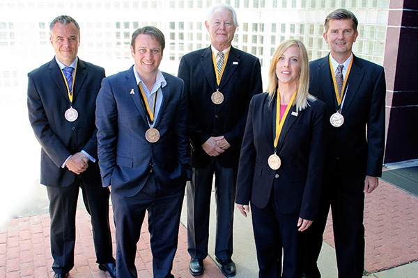 Five individuals receive Walker College of Business's 2016 Sywassink Award for Excellence