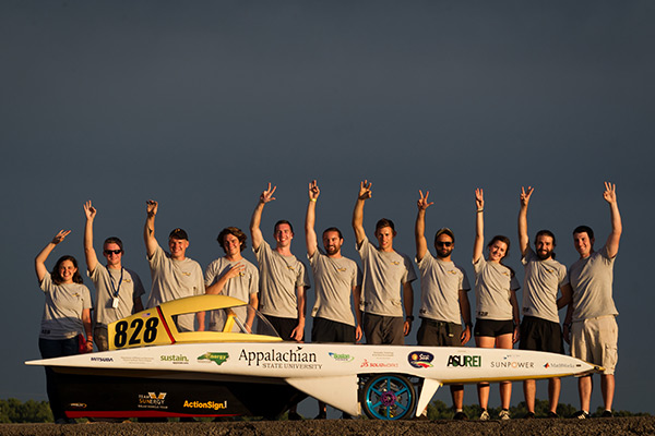 Appalachian's solar vehicle team places third in the Formula Sun Grand Prix