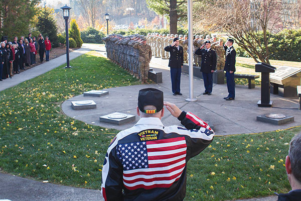 Appalachian State University marks Veterans Day with stirring morning ceremony
