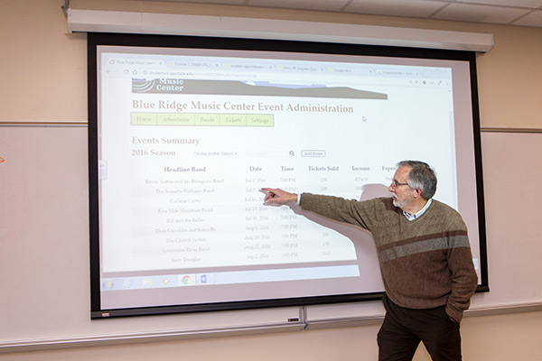 Computer science students at Appalachian State University gain experience, regional culture benefits