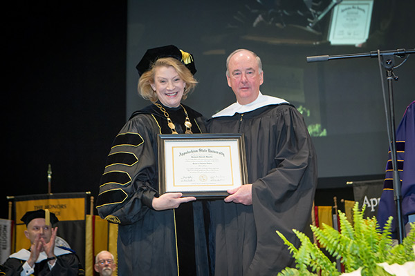Sparks receives honorary degree from Appalachian