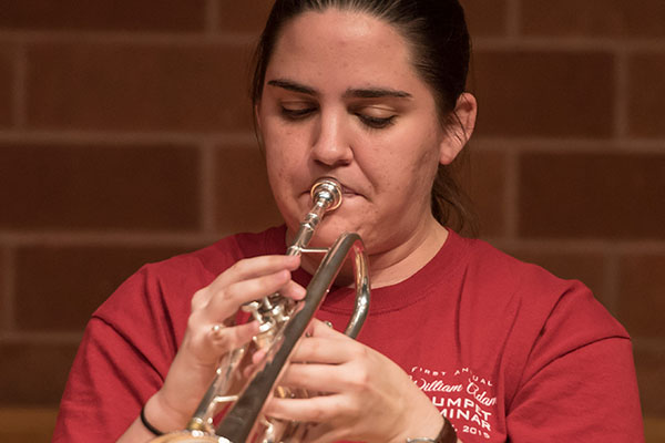 Wind Ensemble Concerto competition winner Brittney Self will perform on trumpet April 30