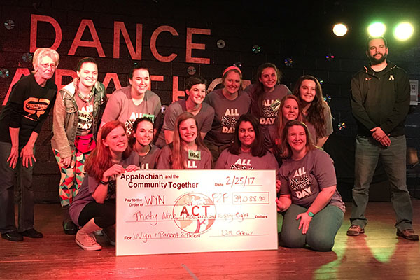 Dance Marathon at Appalachian raises over $39,000 for children's charities