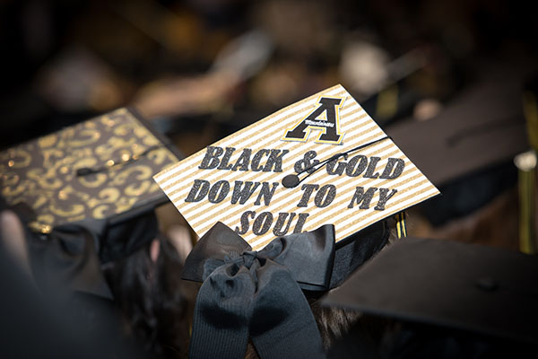 Commencement remarks at Appalachian focus on possibilities, overcoming obstacles and appreciation