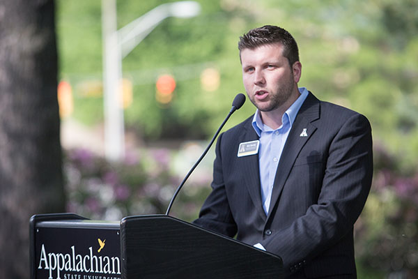 Veteran Eric Gormly delivers moving address at Appalachian's Memorial Day ceremony