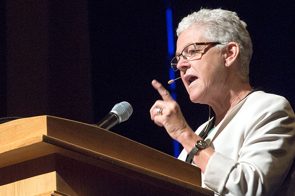 Gina McCarthy, former head of EPA, delivers a rousing, humorous and inspiring keynote during Appalachian Energy Summit