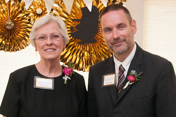 Alumni Daugherty and Rogers inducted into the Reich College of Education Rhododendron Society