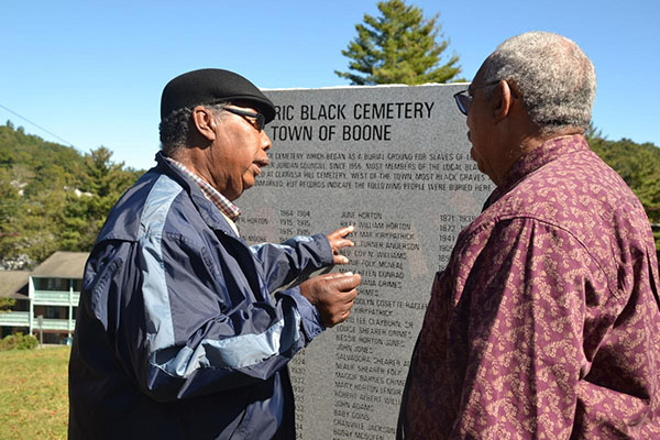 Historic black cemetery grave marker unveiled
