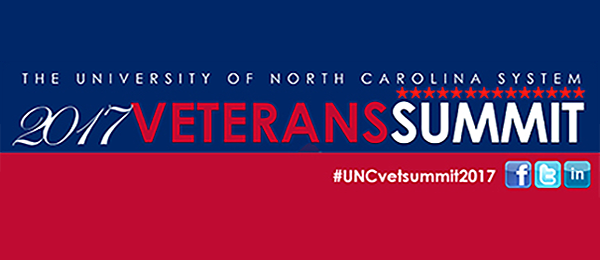 2017 Veterans Summit hosted by The University of North Carolina System