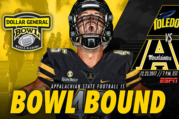 Bowl Bound Again: Apps to Face Toledo in Dollar General Bowl