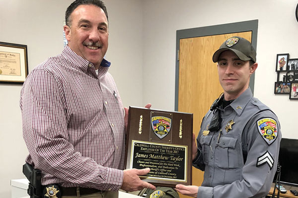 Cpl. Matt Taylor named Caldwell County Sheriff's Office 2017 Employee of the Year