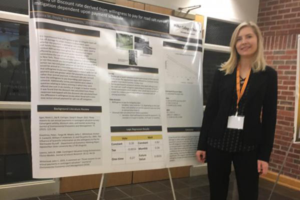 Economics seniors present at Undergraduate Research and Creativity Symposium