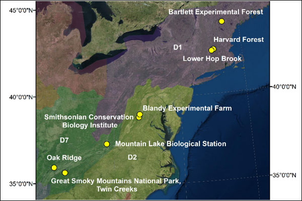 Macrosystems Biology, Early NEON Science grant supports biodiversity mapping in eastern US