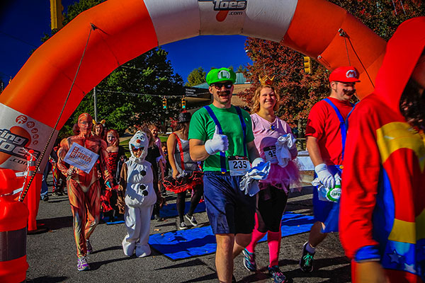 The Health Foundation supports Appalachian's 2018 Spooky Duke Race and Costume Contest
