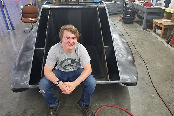 Furniture design student puts knowledge to practice with Appalachian's solar vehicle team