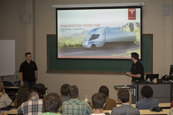Tesla and Palmetto recruit 'successful leaders' in sustainability at Appalachian