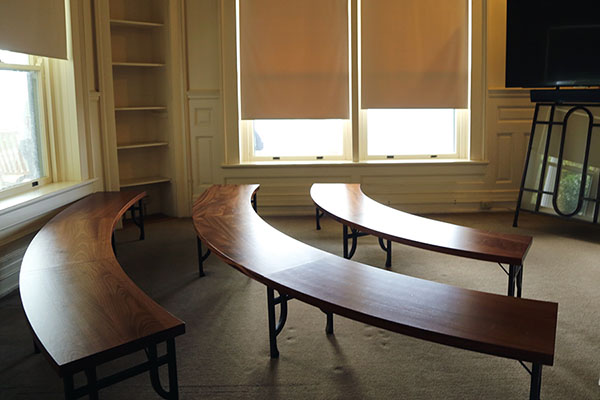 Appalachian industrial design students craft furniture for Moses Cone Manor minitheater