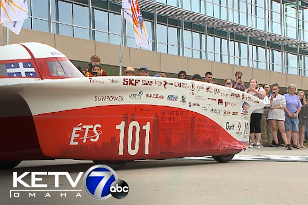 Solar-powered vehicles start 1700-mile race in Omaha