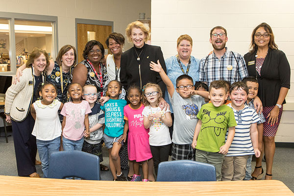 Appalachian's Chancellor Everts engages with students, shares books at Middle Fork Academy